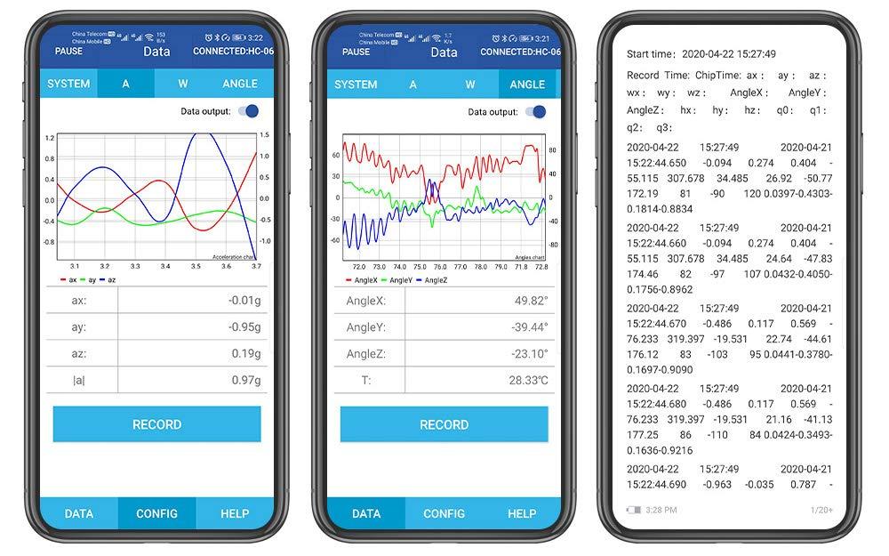 bwt61cl puerto serie Bluetooth módulo de giroscopio MPU6050 ángulo ...