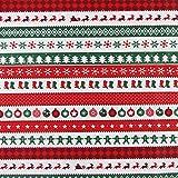 aufodara 1 Stück Stoff Meterware Weihnachten Mustern