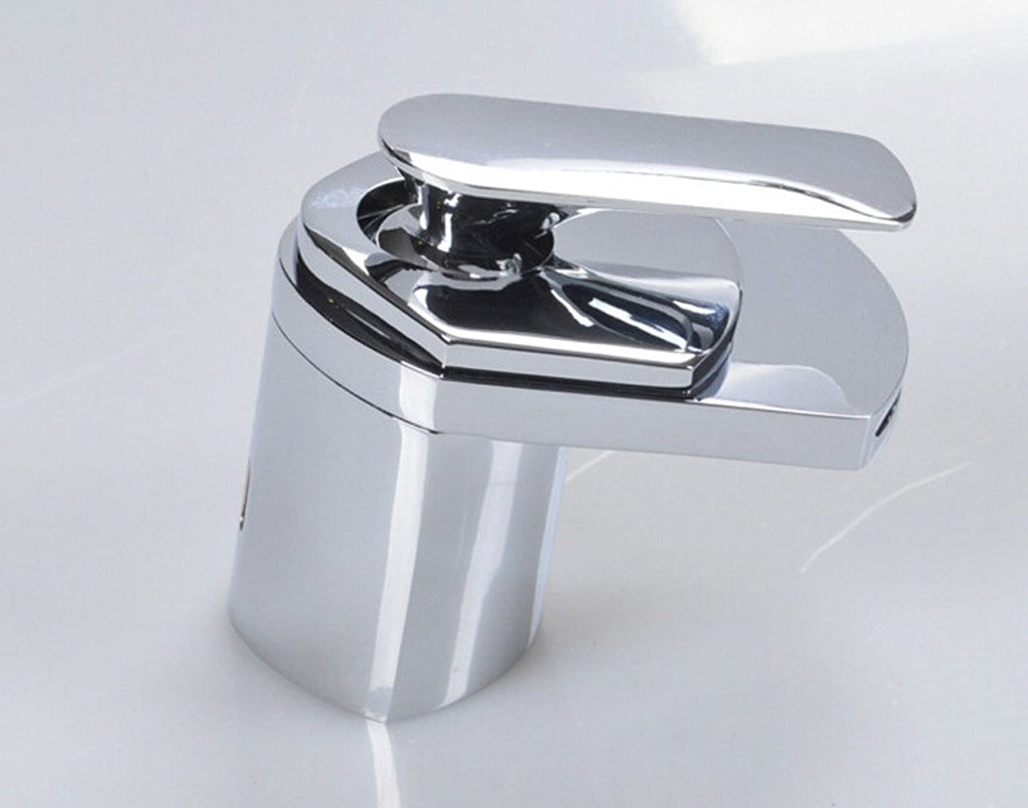 Hlluya Professional Sink Mixer Tap Kitchen Faucet The waterfall faucet basin mixer corrosion-resistant glass Faucet