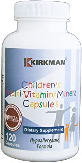 Kirkman Children's Multi-Vitamin/Mineral - Hypoallergenic || 120 Vegetarian Capsules || Free of common allergens ||Tested for more than 950 environmental contaminants