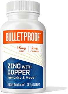 Bulletproof Zinc with Copper Supplement with Minerals and Antioxidants to Support Immunity, Mood, Heart, and Hormone Balan...