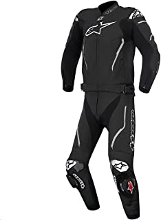 Alpinestars Atem Men's 2-Piece Street Motorcycle Race Suits - Black / 54