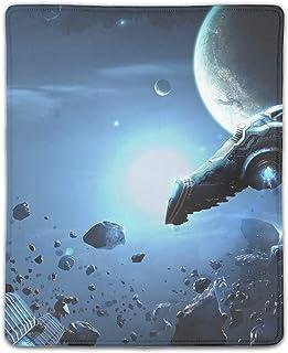 マウスパッド ゲーミングマウスパッド 滑り止め 18X22 厚い 耐久性に優れ 宇宙船宇宙の岩 おしゃれ