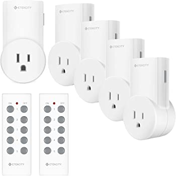 Etekcity ZAP 5LX Wireless Remote Control Outlet, white