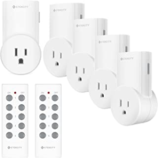 Etekcity ZAP 5LX Wireless Remote Control Outlet, white