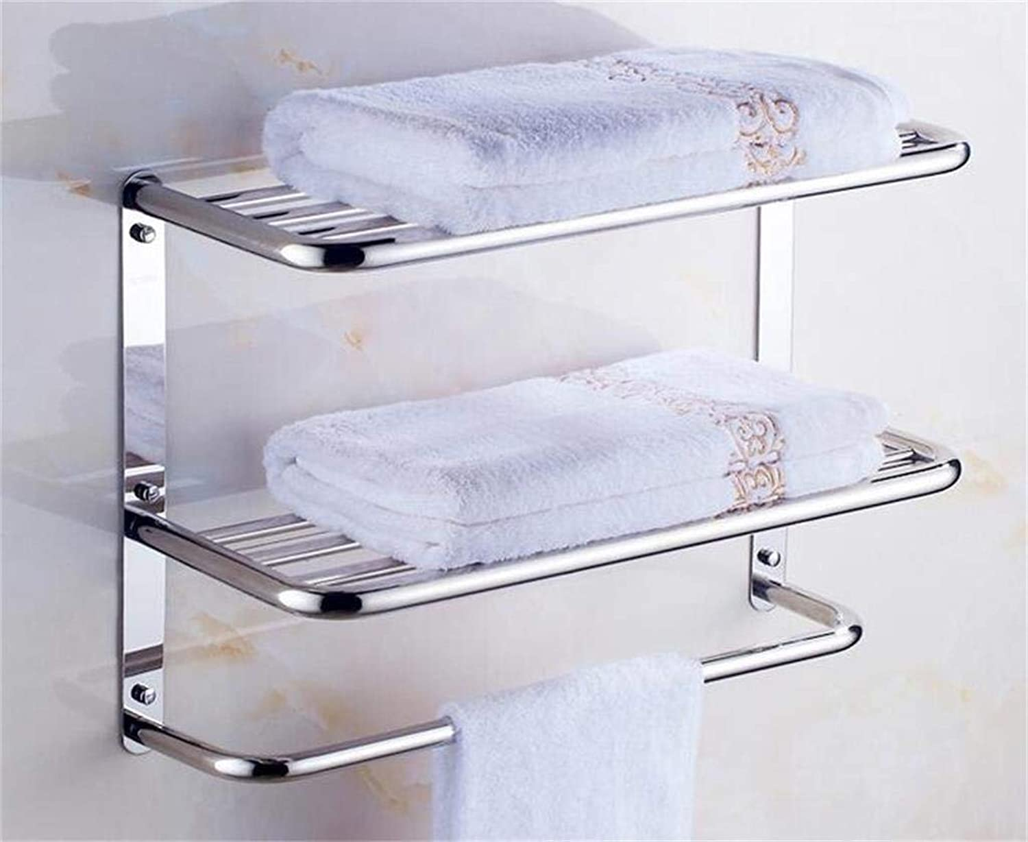 EQEQ Stainless Steel Shelving in Bathroom Bathroom Storage Rack Shelf Propeller Embedded Bathroom (color  7 (C 37 cm).