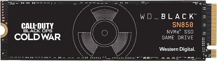 Wd black sn850 1 tb nvme ssd internal gaming, tecnologia pcie gen4, velocità di lettura fino a 7.000 mb/s WD-40