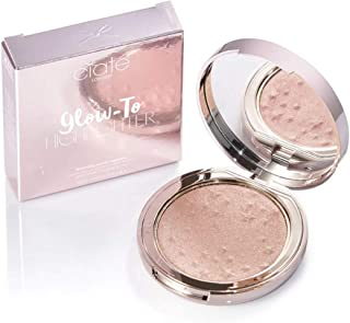 Ciate London Glow-To Highlighter 0.17 Oz! Face Glow Highlighting Pressed Powder Makeup! Weightless, Long-Wear And Extreme Creaminess! Vegan & GLuten Free! Choose Your Makeup Color! (Moondust)