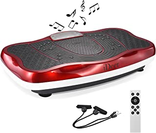 IDEER Vibration Platform Exercise Machine,Fitness Vibration Plates,Whole Body Vibration Machine w/Remote Control&Bands,Anti-Slip Fit Massage Workout Vibration Plate.Max User Weight 330LB.