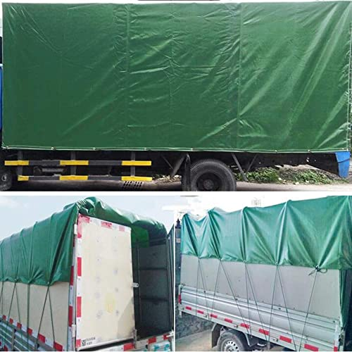 CJC Voiles d'ombrage Bache épaississant PVC Double Face étanche Facile à Plier pour De Plein Air Jardins Un Camion 540G M2 (Couleur   vert, Taille   5x6m)