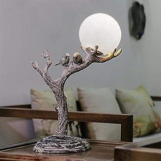 Lampe de Table Nature, Vintage, Néoclassique production de résine naturelle stimulus bois LED lampe de table, LED lampe de...