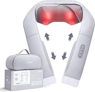 Naipo Masseur Shiatsu avec chaleur et sangles réglables, massage électrique avec 3 réglages de vitesse, Massage par pétris...