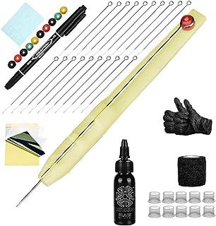 Tattoo Kit Hand Poke Stick Tattoo Pen Inkt Cups 1 3 5 7RL Naalden met Zelfklevende Bandage