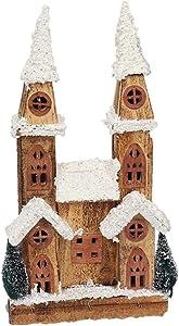 YANKAN Luz Decorativa Led,Navidad Decoracion Luces ,(Casa De Navidad Decoraciones De Navidad Luces De Madera Capilla del Castillo)