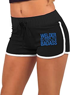 Women's Fashion Welder My Official Title Most People Call Me Badass Jogger Sweatpant Bodybuilding Gym Hot Shorts