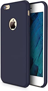 TORRAS [Love Series] iPhone 6S Case/iPhone 6 Case, Liquid Silicone Rubber Shockproof Case with Soft Microfiber Cloth Cushion Compatible with iPhone 6 / 6S, Dark Blue