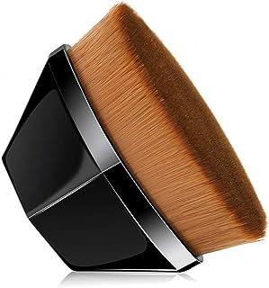 Foundation Makeup Brushes, POSTA Petal-Shaped Foundation Brush Flat Top Kabuki Brush for Blending Liquid, Cream or Flawless Powder Cosmetics Tool with Bonus Protective Case