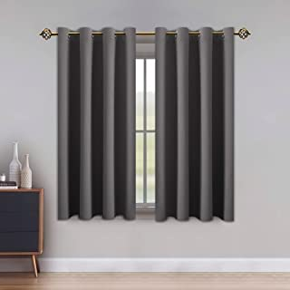 LUSHLEAF Blackout Curtains for Bedroom, Solid Thermal Insulated with Grommet Noise Reduction Window Drapes, Room Darkening...