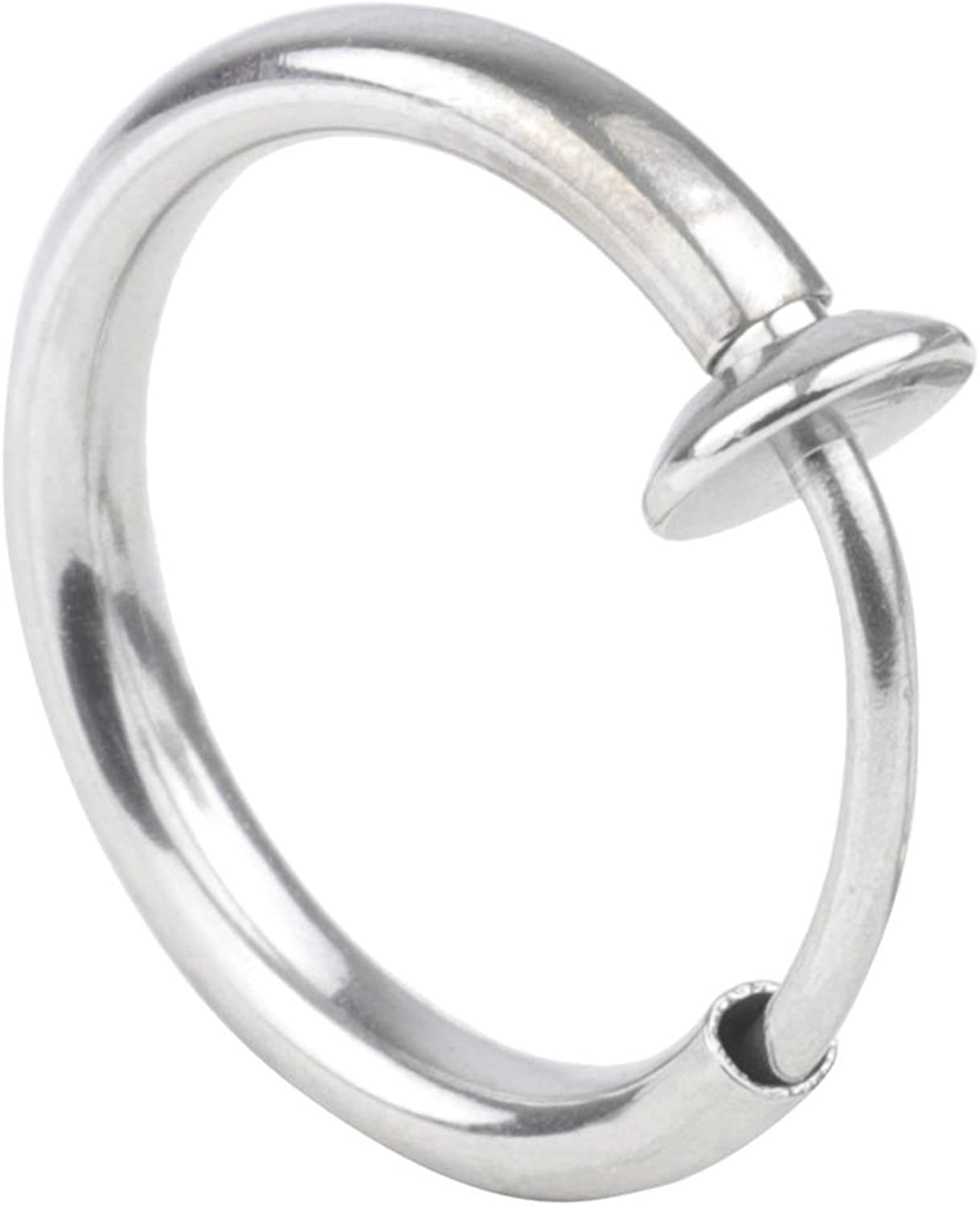 A++ 1Pcs 8mm Non Piercing Septum Piercing Spring Action Fake Body Jewelry Hoop Fashion Piercing Jewelry