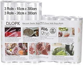 comprar comparacion Bolsas de Vacío 6 Rollos 15x300cm y 20x300cm Bolsas Profesional para la Conservación,Sous Vide Cocina, Certificación de se...