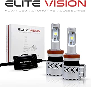 Elite Vision Advanced Automotive Accessories - Olympus LED Conversion Kit H11 (H8,H9, H16) for Bright White Headlights Bulbs, Low Beams, High Beams, Fog Lights
