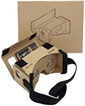 Google Cardboard,Virtual Real Store 3D VR Headset Virtual Reality Glasses Box with Big Clear 3D Optical Lens and DIY Comfortable Head Strap Nose Pad for All 3-5.5 Inch Smartphones