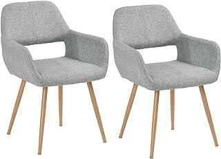FurnitureR Juego de 2 sillas de Comedor con Brazos Sillas de