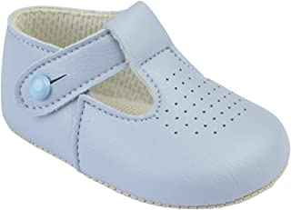 Baypods Baby Boys Traditional T bar pram Shoes Early Days 6-12 Months Sky Blue