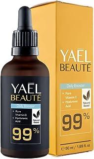 99% Natürliches Vitamin C & Hyaluron Serum  Dermaroller geeignet  Anti-Age & Anti-Falten  Hochdosiert  Vegan  50ml