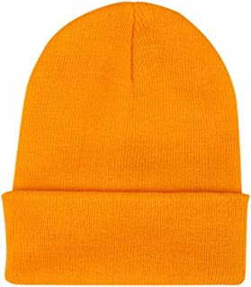 COODIO Men Women Simple Solid Color Beanie Knit Cap Hip-Hop Winter Warm Unisex Wool Hat for Fashion Jewelry