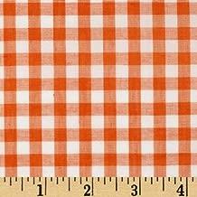 Best orange gingham fabric Reviews