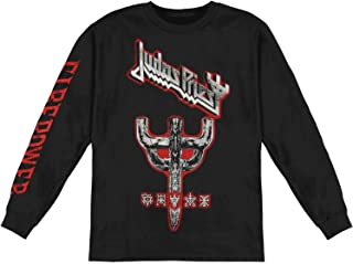 Judas Priest Men's Emblem City 2018 Firepower Tour Long Sleeve Black