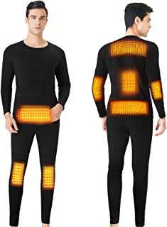 BJ&HH Heating Fleece Lined Thermal Jacket Electric Thermal Underwear Cycling Jacket Men Women Heated Suit USB Electric The...