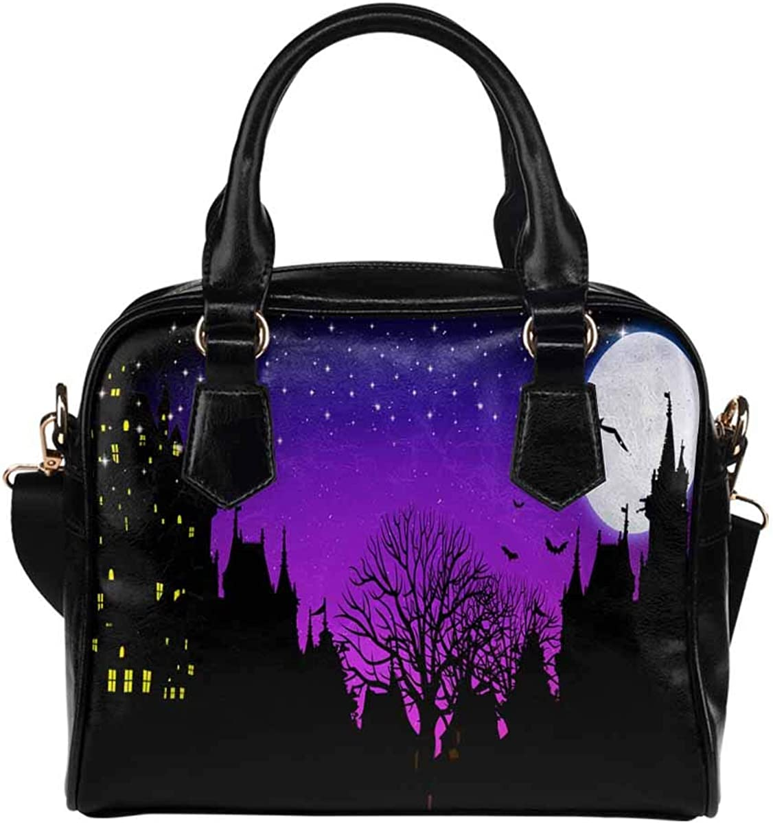 Halloween Pumpkin Tree of Factory outlet Life PU Leather Purse Shoulde Handbags unisex