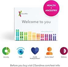 23andMe DNA Test - Health + Ancestry Personal Genetic Service - includes 125+ reports on Health, Wellness, Ancestry & More