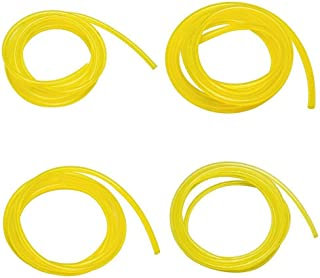 Qiulip 6mm Gas Fuel Filter Petrol Pipe Hose Line 4 Clips Moto Scooter Dirt Bike