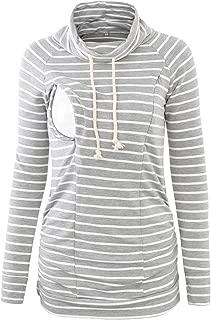 Women's Maternity Nursing Hoodie Long Sleeves Sweatshirt Breastfeeding Tops Casual Clothes