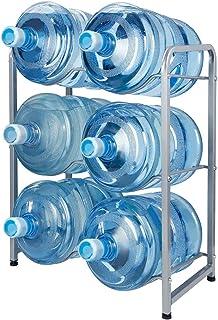 Showay 5 Gallon Water Bottle Holder 6 Trays Water Jug Rack 3 Tier Water Bottle Rack Reinforced Steel Rack for Water Storag...