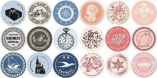 Kinteshun Retro Patterns Sealing Sticker,Self-adhensive DIY Decorative Gift Packing Wrapping Envelope Seals Baking Label P...