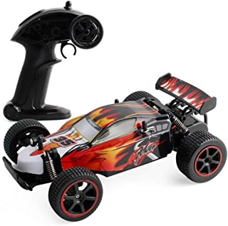 Buywin JJQ-Toys RC Car High Speed 1:18 4WD Electric Power 2.4GHZ High Speed Climbing Remote Control Vehicle Red