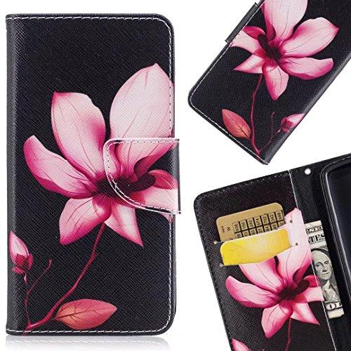 LEMORRY Per Huawei P20 Lite Custodia Premio Pelle Cuoio Flip Portafoglio Borsa Sottile Protettivo...