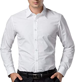 Men's Cotton White Solid Full Sleeve Shirts