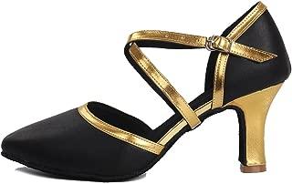 HROYL Chaussures de Danse avec Strass Latine pour Femmes Nouvelles Tango Valse F/ête Sociale Salsa Chaussures De Mariage,Maquette FRYCL377