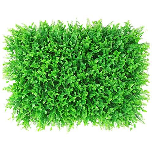WanuigH-Home Wurzelnackte Grün Hedging 12 Stücke künstliche Boxwood Hedge Mat Pflanzen Panels Privacy Screen UV-Schutz Baum Pflanzen (Farbe : Grün, Größe : 60x40cm)