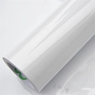 New 61cm Wide PVC Vinyl Films Self Adhesive Wallpaper Wardrobe Cupboard Furniture Poster Kitchen White 61CM X 3 Meters