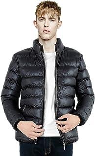 BoodTag Men Standing Collar Jacket Light Weight Puffer Coat