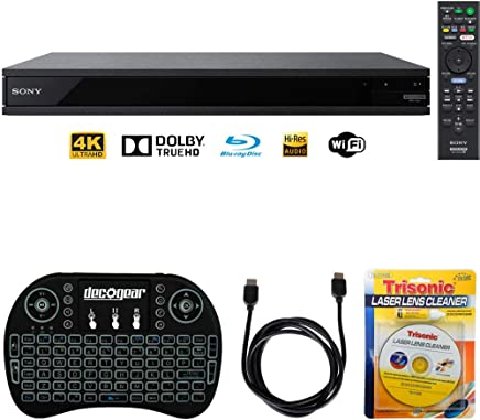 $258 Get Sony UBP-X800-4K Ultra HD Smart Blu-Ray Player with Hi Res + Accessories Bundle Includes, 2.4GHz Wireless Backlit Keyboard w/Touchpad, 6ft HDMI Cable and Laser Lens Cleaner for DVD/CD Players
