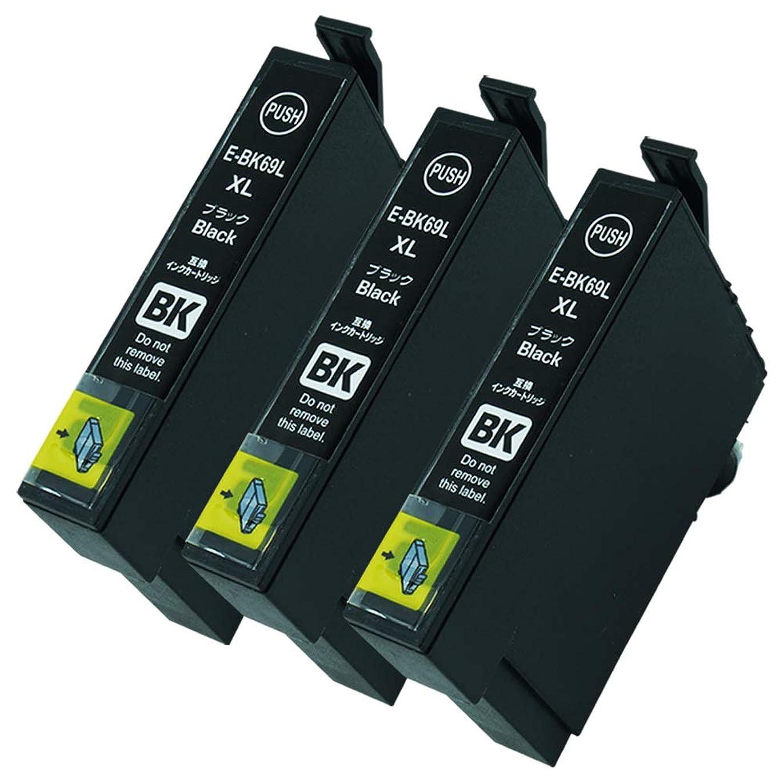 釈義農学ギャロップICBK69【ブラック3本セット】大容量 目印:砂時計 EPSON互換インク 残量表示あり 最新ICチップ搭載 国内梱包検品済み 【Enk】製 対応機種:PX-045A、PX-046A、PX-047A、PX-105、PX-405A、PX-435A、PX-436A、PX-437A、PX-505F、PX-535F