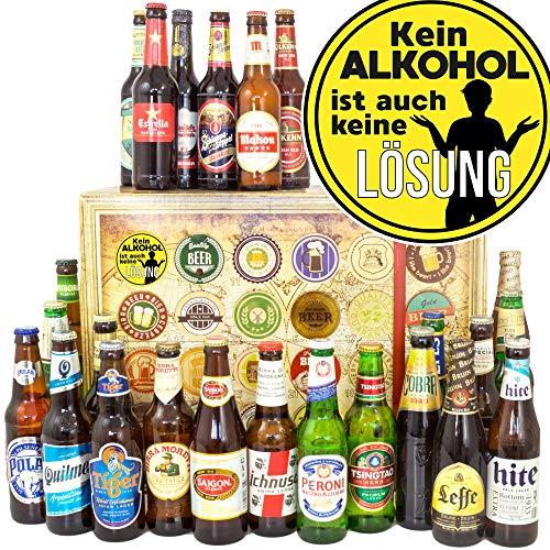 Kein Alkohol + Geschenke Männerabend + Biere der Welt 24x + Weihnacht Kalender Bier