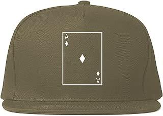 Ace of Diamonds Snapback Hat Cap